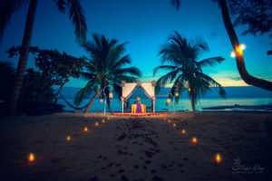 Candle romantic dinner on Samui, Thailand