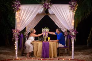 Candle romantic dinner on Samui, Thailand